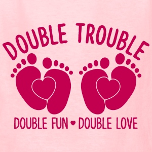 double trouble - double fun - double love Kids' Shirts - Kids' T-Shirt