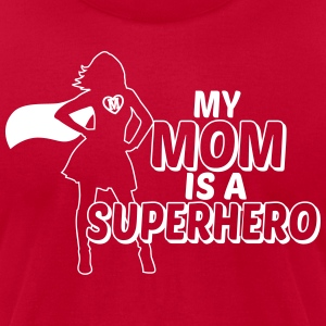 my mom is a superhero T-Shirts - Men's T-Shirt by American Apparel