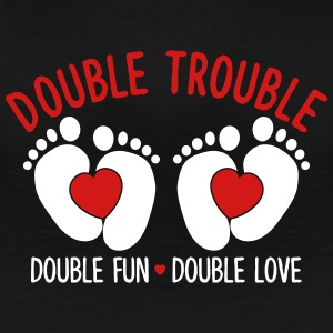 double trouble - double fun - double love Women's T-Shirts - Women's Premium T-Shirt