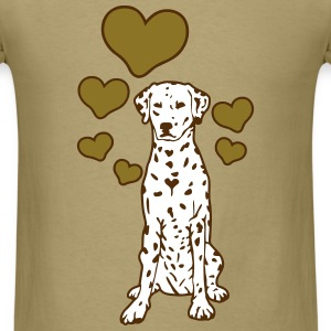 Dalmatian Sitting with Hearts T-Shirts - Men's T-Shirt