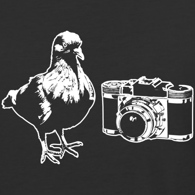 Pigeon Camera Baseball Tee