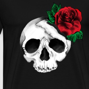 Skull & Rose Tattoo T-Shirts - Men's Premium T-Shirt