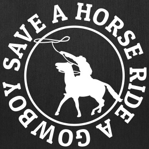 Save a horse ride a cowboy Bags & backpacks - Tote Bag