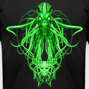 Cthulhu No.4 in Green Steampunk T-Shirts - Men's T-Shirt by American Apparel