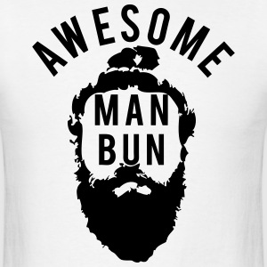 Awesome Man Bun T-Shirts - Men's T-Shirt