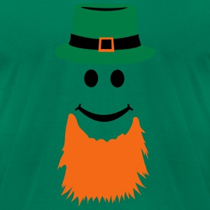 Smiley Leprechaun T-Shirts - Men's T-Shirt by American Apparel