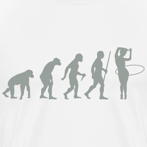 Evolution Hula Hoop T-Shirts - Men's Premium T-Shirt
