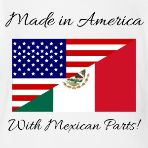 Made in America with Mexican Parts! - Short Sleeve Baby Bodysuit