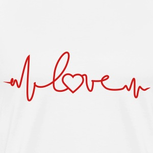 love heartbeat - Men's Premium T-Shirt