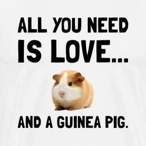 Love And A Guinea Pig - Men's Premium T-Shirt