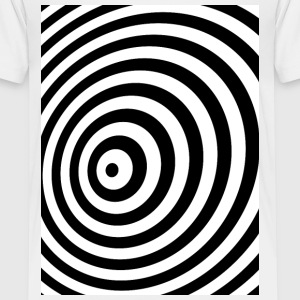 Minimum Geometry Illusion in Black & White(OP-Art) Kids' Shirts - Kids' Premium T-Shirt