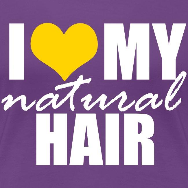 Yellow Heart Love My Natural Hair Premium T-shirt