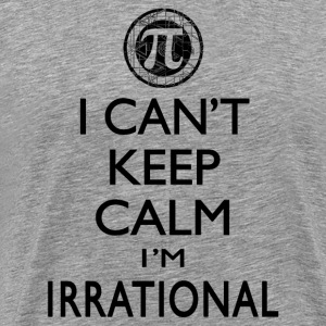 I Can't Keep Calm I'm Irrational Pi Day - Men's Premium T-Shirt