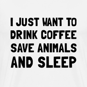 Coffee Animals Sleep - Men's Premium T-Shirt