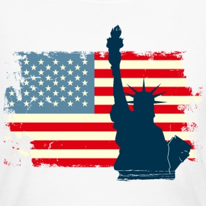 Liberty Statue USA Flag Long Sleeve Shirts - Women's Long Sleeve Jersey T-Shirt