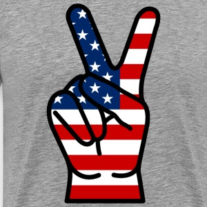 USA Peace Hand T-Shirts - Men's Premium T-Shirt