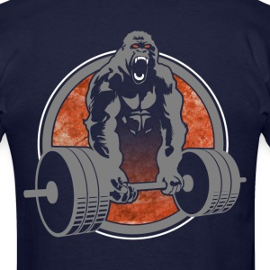 Weightlifting Crossfit Gorilla - Men's T-Shirt