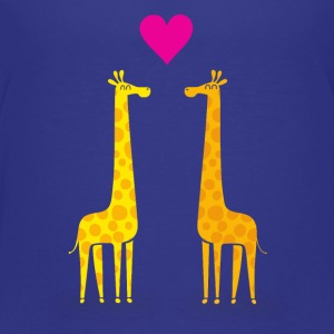 Funny & Cute Giraffes Couple in Love (Heart) Kids' Shirts - Kids' Premium T-Shirt