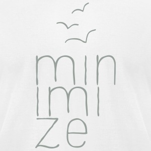 Minimize T-Shirts - Men's T-Shirt by American Apparel