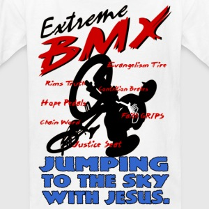I Love jesus, Extreme BMX-jumping to sky - Kids' T-Shirt
