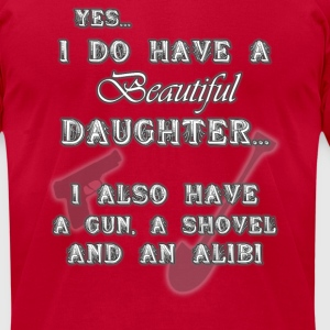 Gun, shovel, alibi.png T-Shirts - Men's T-Shirt by American Apparel