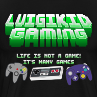Design ~ Luigikid Life Is Not A Game Anniversary T-Shirt Men