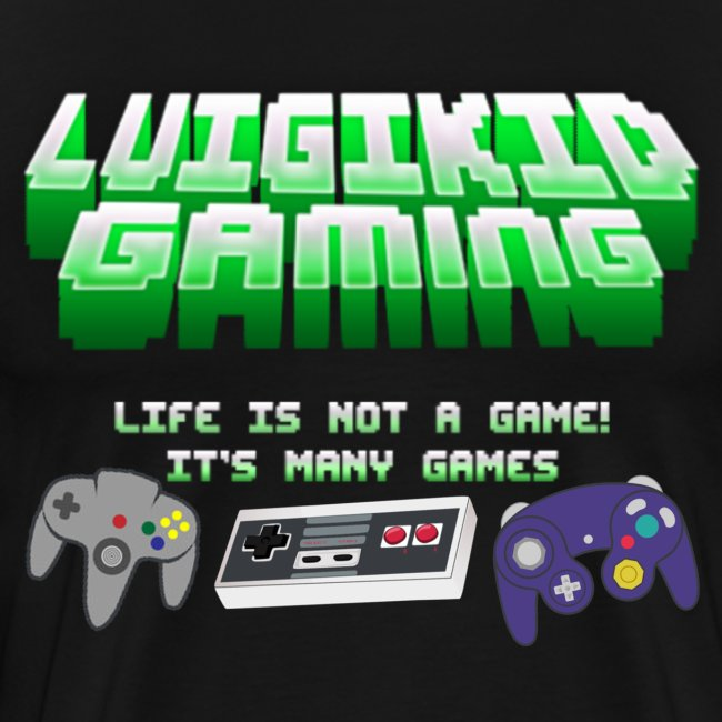 Luigikid Life Is Not A Game Anniversary T-Shirt Men