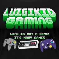 Design ~ Luigikid Life Is Not A Game Anniversary T-Shirt Women
