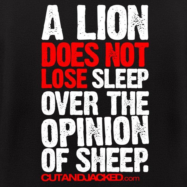 A lion does not lose sleep | Mens Zipper hoodie