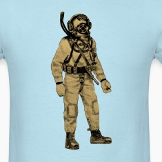Navy Diver with Mark V Diving Helmet and Knife