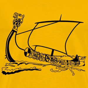 sailing ship old ship sailing viking T-Shirts - Men's Premium T-Shirt