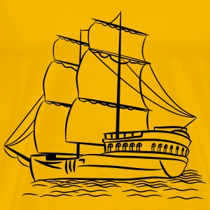 sailing ship old ship T-Shirts - Men's Premium T-Shirt