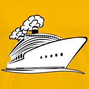 travel steamer ship vacation T-Shirts - Men's Premium T-Shirt