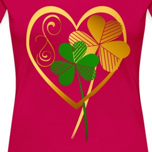 Shamrocks Of My Heart - Women's Premium T-Shirt