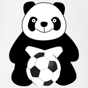 Panda with a soccer ball Baby & Toddler Shirts - Short Sleeve Baby Bodysuit
