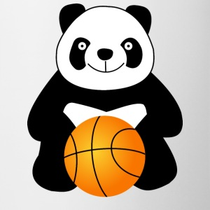 Panda with a basketball ball Mugs & Drinkware - Coffee/Tea Mug