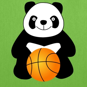 Panda with a basketball ball Bags & backpacks - Tote Bag