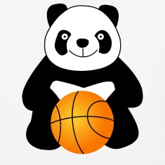 Panda with a basketball ball T-Shirts