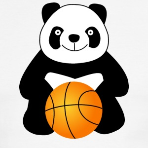 Panda with a basketball ball T-Shirts - Men's Ringer T-Shirt