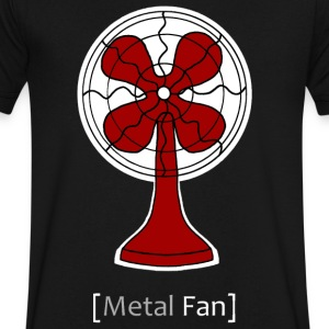 Metal Fan T-Shirts - Men's V-Neck T-Shirt by Canvas
