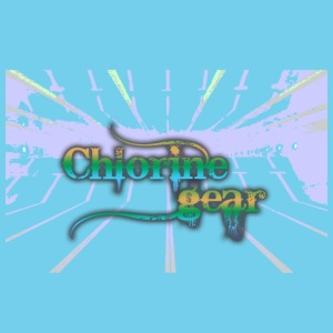 Chlorine Gear Text w pool background