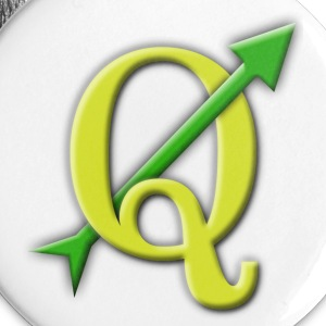 Large QGIS Buttons With Vector Outline - Large Buttons