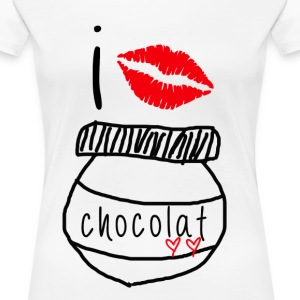 i love chocolate - Women's Premium T-Shirt