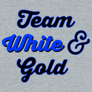 Team White Gold 2 T-Shirts - Unisex Tri-Blend T-Shirt by American Apparel