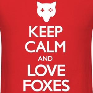 Keep Calm and Love Foxes T-Shirts - Men's T-Shirt