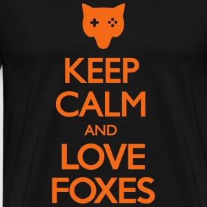 Keep Calm and Love Foxes T-Shirts - Men's Premium T-Shirt