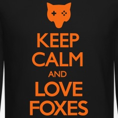 Keep Calm and Love Foxes Long Sleeve Shirts