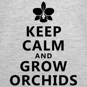 Keep Calm and Grow Orchids - Black - Women's Premium Tank Top