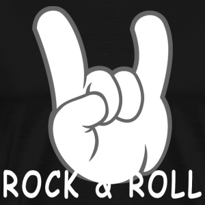 Rock and Roll Devil Horns 50s Band Music Hand Sign - Men's Premium T-Shirt