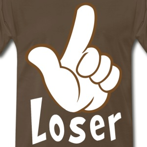 Loser Hand Sign Language Gesture Humor - Men's Premium T-Shirt